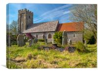 Angle Church, Pembrokeshire, Wales., Canvas Print