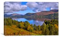 Derwent Water from Catcalls Fell Side, Canvas Print