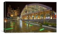 A Quiet Evening at Lime Street Station in Liverpoo, Canvas Print