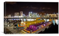 Yellow Submarine at Albert Dock in Liverpool, Canvas Print