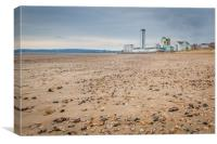 The Meridian tower viewed from Swansea seas front., Canvas Print