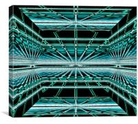 Space Box  3 of 3, Canvas Print