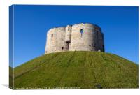 Clifford's Tower in York, Canvas Print