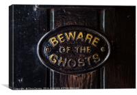 Beware of the Ghosts, Canvas Print