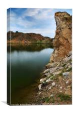intersection of stone and water, Canvas Print