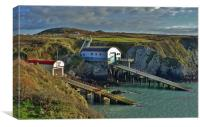 Old & New St Davids Lifeboat Stations, Canvas Print