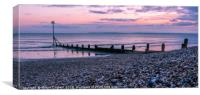 Sunset on the East Wittering Coastline, Canvas Print