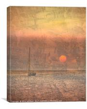 Sunrise Over the Sea, Canvas Print