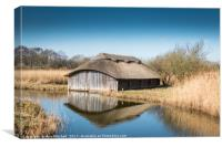 Boathouse at Hickling Broad, Canvas Print