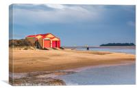 Wells Lifeboat Station North Norfolk, Canvas Print