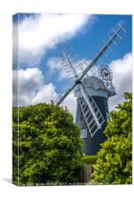 Stow Mill Mundesley Norfolk, Canvas Print