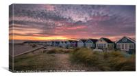 Sunset at Hengistbury Head, Canvas Print