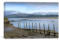 River Dovey North West Wales, Canvas Print