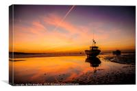 Southend Sunset 3, Canvas Print