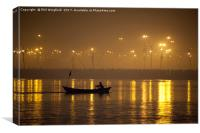 Early Morning on the Jumna, Canvas Print