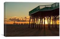 Under the Pier at Sunset, Canvas Print