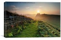 Hadrians Wall, Canvas Print