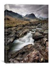Deepdale Waterfall, Canvas Print