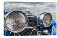 Large lights, grills and chrome, Canvas Print