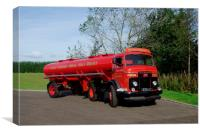 1958 Commer TS3 tanker, Canvas Print