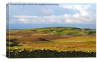 Layers of Colour in Shetland, Canvas Print