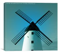 Windmill on the Green at Lytham St Annes, Canvas Print