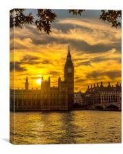 Westminster Sunset, Canvas Print