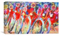 Bicycles of Amsterdam, Canvas Print