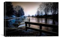 Frozen Forth and Clyde Canal, Canvas Print