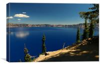 The Deep Blue Of The Crater Lake, Canvas Print
