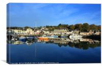 Padstow Harbour in Cornwall, England., Canvas Print