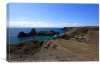 Kynance Cove in Cornwall, England., Canvas Print