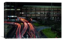 Light Trails in Charing Cross, Glasgow, Canvas Print