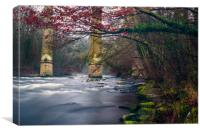 River Dee Flowing Under The Pontcysyllte Aqueduct, Canvas Print