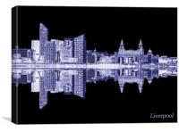 Abstract Reflections at the Albert Dock  Liverpool, Canvas Print