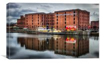 Reflections from The Albert Dock in Liverpool , Canvas Print