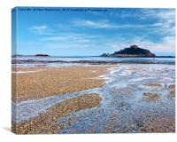 St Micheal's Mount Cornwall, Canvas Print