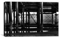 Under The Pier Cleethorpes, Canvas Print