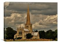 St Mary's Church, Snettisham , Canvas Print