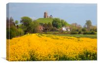 Burrow Mump and the Ruined St Michael's Church, Canvas Print