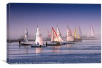 Dinghies in the Mist, Canvas Print