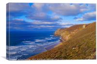 Wheal Coates Mine, St Agnes, Canvas Print