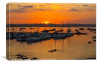 Brixham Marina Sunset, Canvas Print