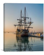 El Galeón, Spanish Tall Ship, Canvas Print
