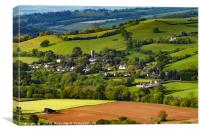 Bickleigh, Mid Devon, Canvas Print