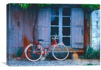 French Cycle, Canvas Print