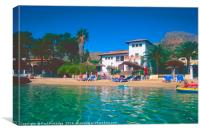 The Beach at Puerto Pollensa, Canvas Print