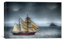 The Tres Hombres off Thatcher Rock (Textured), Canvas Print