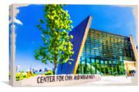Center for Civil and Human Rights, Canvas Print