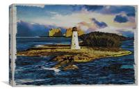 Bahamas Lighthouse with Resort, Canvas Print
